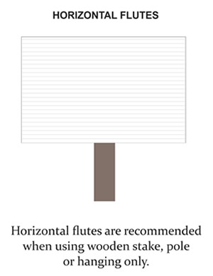 Coroplast Yard Sign with Horizontal Flutes