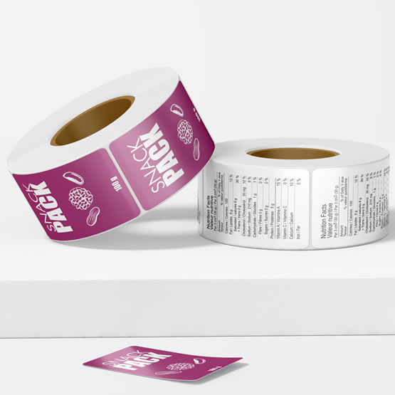 Rectangular Roll Labels main gallery image