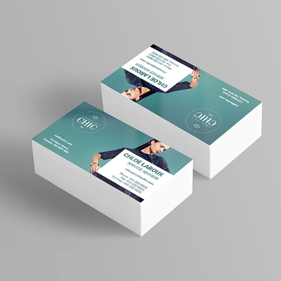 Silk Laminated Business Cards main gallery image